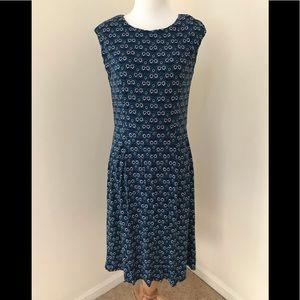 Boden SZ 10R, green/ blue combo dress